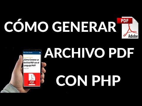 Cómo Generar un Archivo PDF con el Lenguaje PHP