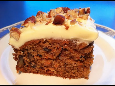 How To Make A Delicious Homemade Carrot Cake Youtube