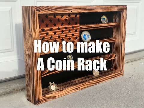 DIY How To Build an American Flag Coin Rack STEP BY STEP PROCESS