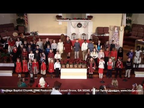 Heritage Baptist Christian School Christmas Program 12-18-18