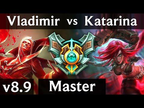 VLADIMIR vs KATARINA (MID) ~ Pentakill, Legendary, KDA 24/4/7 ~ Korea Master ~ Patch 8.9