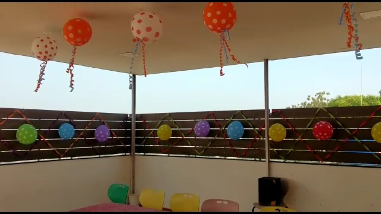 Party Decoration Ideas On Terrace Party Decoration Diy Party Decoration For Birthday Youtube
