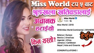 Miss World को 'टप ५' बाट किन एकैछिनमा हटाइयो श्रृंखलालाई ?षणयन्त्र कि प्राविधिक समस्या? Shrinkhala