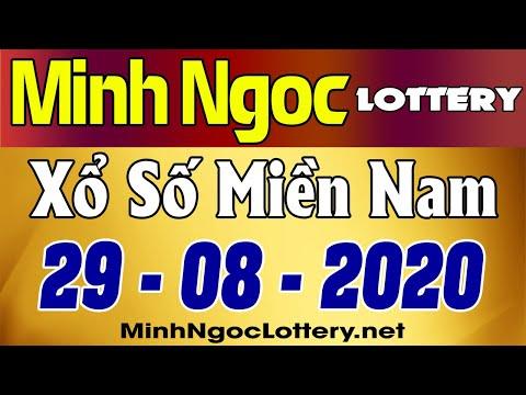 Minh Ngoc Lottery Kết Quả Xổ Số Miền Nam Xsmn Thứ 7 29 08 2020 Youtube