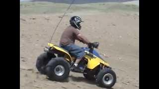 sand dunes WY killpecker, lt 500 quadzilla, honda odyssey fl 350, banshee drag racing,