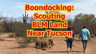 BOONDOCKING ARIZONA #1 | FREE CAMPING NEAR TUCSON | Pipeline Dr BLM | Full Time RV Living VLOG #2