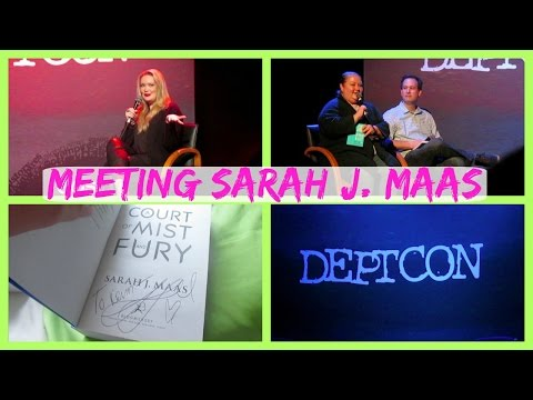 Meeting Sarah J. Maas!! | DeptCon Dublin Vlog