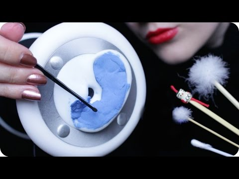ASMR Ear Cleaning - Japanese Ear Pick, Q-tips, Cotton Pads &