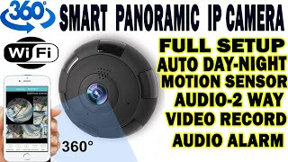 360 Degree Panoramic IP Camera | Live View -Best for All in One I Full Setup 📷📹🎥 screenshot 1