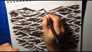 Waveforms: Drawing choppy water