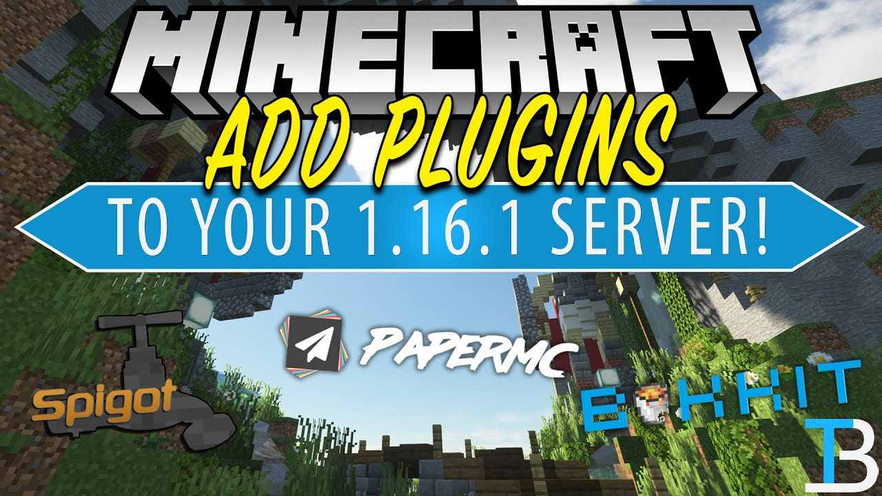 How To Add Plugins To Your Minecraft 1 16 1 Server Bukkit Paper Spigot Youtube