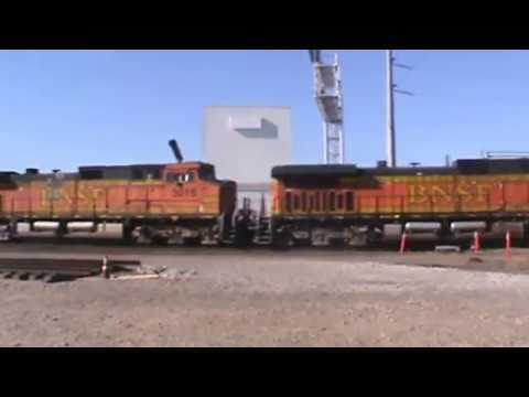 BNSF General Freight W/ NEW CP Rail Camp Cars Tulsa, OK 12/28/16 vid 9 of 16