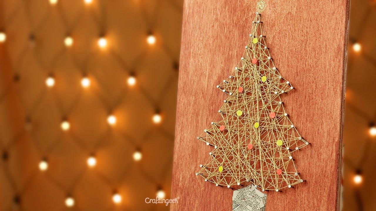 Pino de navidad decoraci n con hilo christmas diy - Decoracion de navidades ...