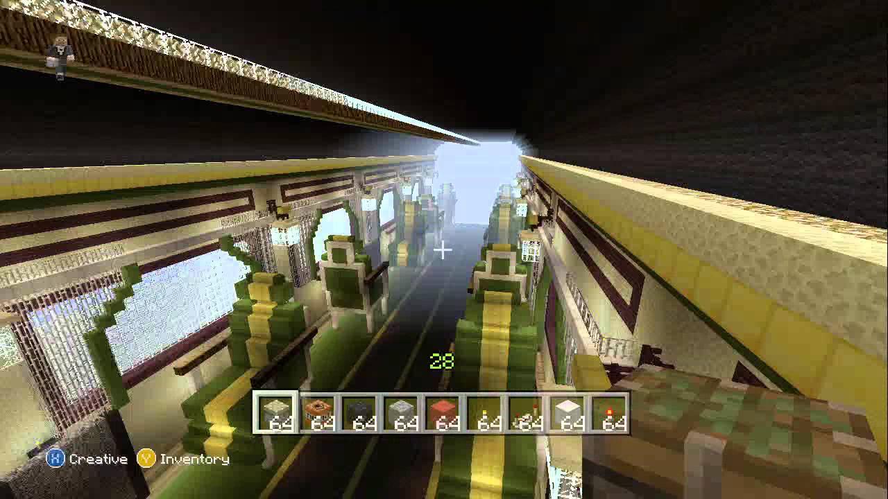 Minecraft Xbox 360 Steam Locomotive And Passenger Car Walkthrough YouTube
