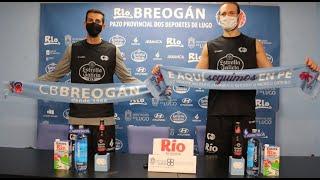 Video Leche Río Breogán Presentación Mindaugas Kacinas e Adam Sollazzo