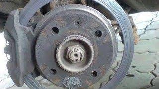 GEELY MK - замена тормозных дисков и колодок.
