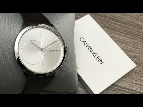 Calvin Klein Silver Dial Brown Leather Men's Watch K3M211G6 Review (Unboxing)