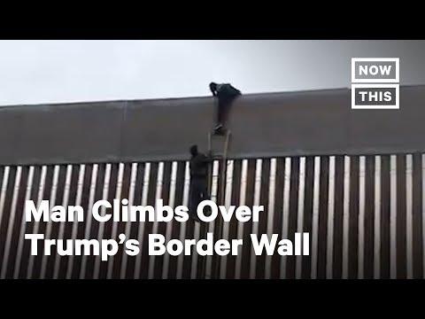 Super Martinez - Hombre Trepa Fácilmente por el Muro Fronterizo de Trump