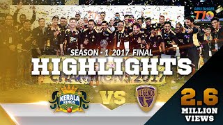 T10 League Season 1 Final. Kerala Kings VS Punjabi Legends