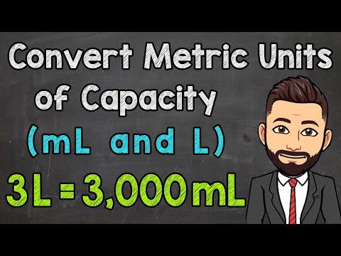 Metric Units of Capacity | Convert mL and L