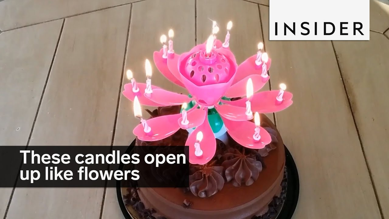 These Candles Open Up Like Flowers Youtube