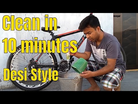 How To Clean Your Mountain Bike in 10 Minutes | साइकिल कैसे साफ करें