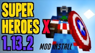 SUPERHEROES X MOD 1.13.2 minecraft - how to download and install heroes mod 1.13.2 (with Forge)