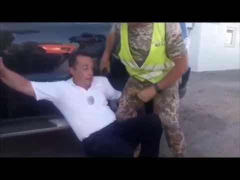 Задержание пьяного майора полиции Власенко. Белгород-Днестровский Одесская область.
