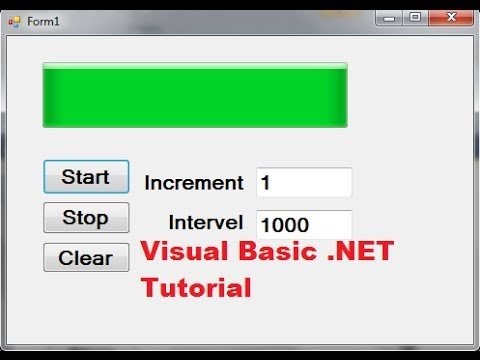 Visual Basic  NET Tutorial 6 - How to use ProgressBars Control in Visual  Basic