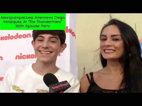 The Thundermans' Diego Velazquez Interview - Alexisjoyvipaccess - The Thundermans 100th Episode