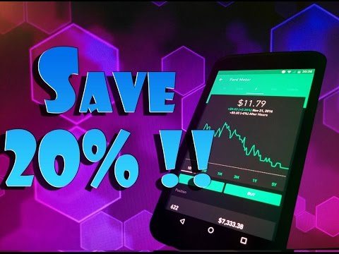 Robinhood APP - EARN 20% Back of DIVIDENDS and CAPITAL GAINS at TAX TIME!