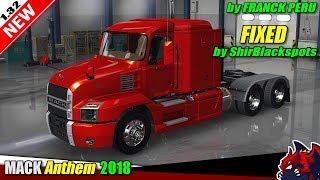 """[""""American Truck Simulator"""", """"truck mod"""", """"Mack Anthem 2018"""", """"by Franck Peru""""]"""