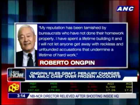 Ongpin files graft, perjury charges vs AMLC chief