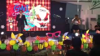 Tikoy Chiu and Lady Shane hosting GWI Christmas Party