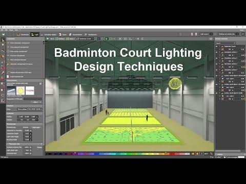 How to do Indoor Badminton Lighting Design Calculations using Dialux evo