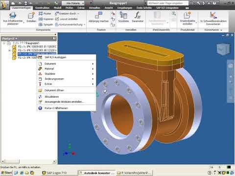 09. Direktintegration Inventor in SAP PLM mit Porta-X: Umgang mit Normteilen