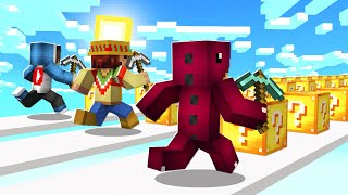 MINECRAFT: CARRERA DE LUCKYBLOCKS TROLL 😂 MINECRAFT LUCKYBLOCKS