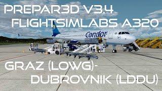 [Prepar3D v3.4/IVAO/1440p] Flightsimlabs A320-X | LOWG-LDDU | CFG2 [German]