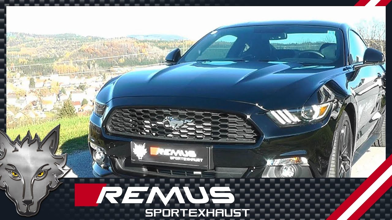 Ford mustang 2 3t ecoboost with remus cat back system