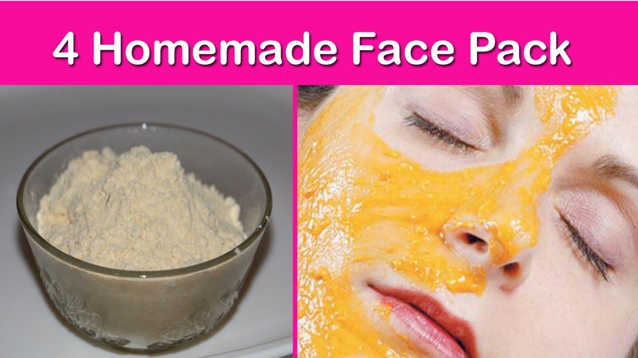 Homemade facial packs