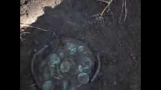 Клад медных и серебряных монет, найденный в одном из наших туров. Часть 1