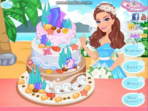 Barbie Wedding Cake Recipe And Decoration Tips Game For Girls