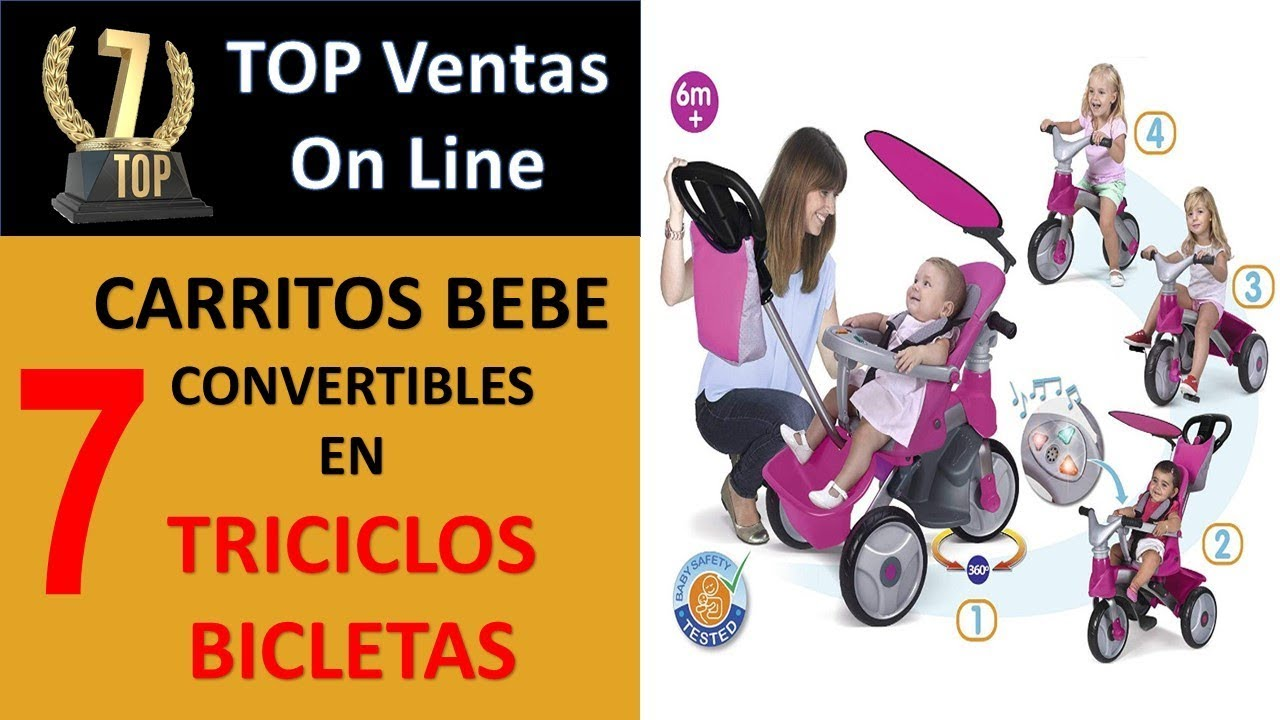 Kinderkraft Triciclo Beb/é Plegable Aveo 6en1 Trike Bicicleta para Ni/ños gris