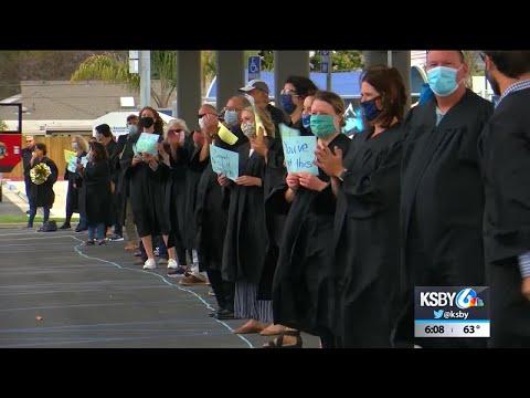 Arroyo Grande High School hosts drive-through graduation ceremony