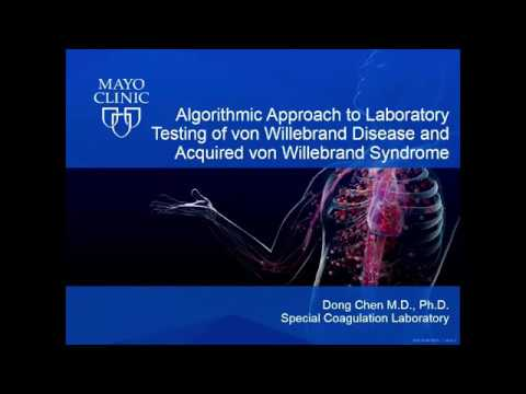 Laboratory Testing of von Willebrand Disease and Acquired von Willebrand Syndrome