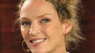 Uma Thurman Relaxes In Swimsuit On Yacht Vacation   HPL
