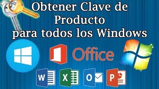 Como sacar Las Claves de Producto o serial de Windows y Office|Produckey 2018