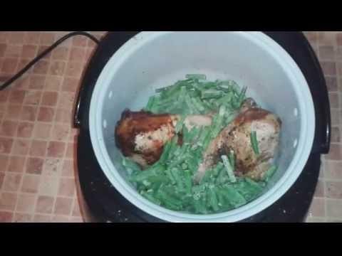 Индейка с фасолью в мультиварке