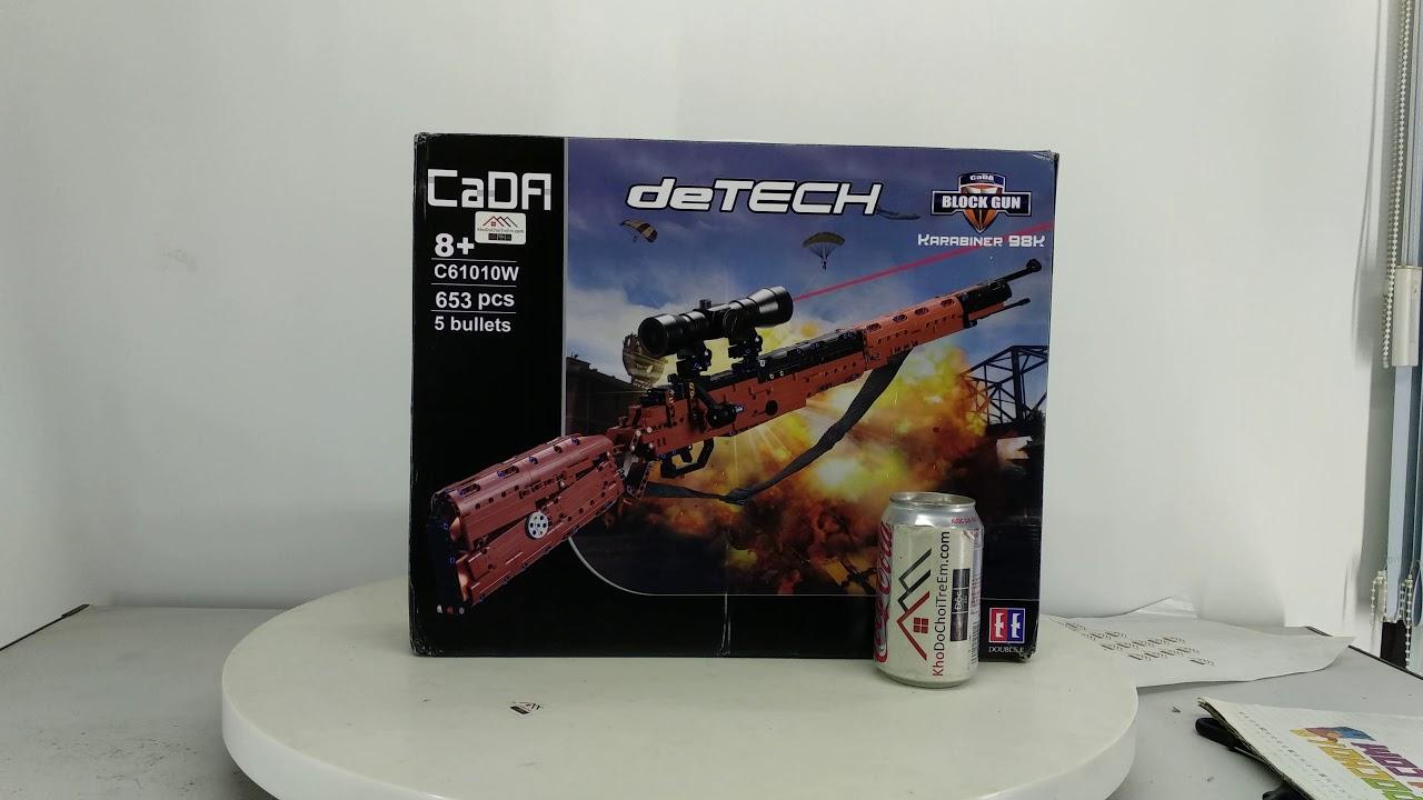 Mở hộp Cada C61010 Lego Technic MOC Karabiner 98k giá sốc rẻ nhất