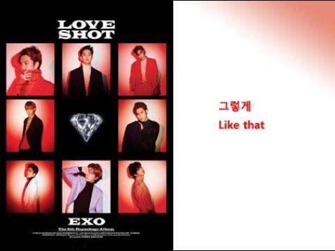 EXO- LOVE SHOT Lyrics Video For Korean Learners